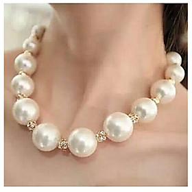 Love Is Your Fashion Luxury Big Pearl Diamond Choker Necklaces Ball
