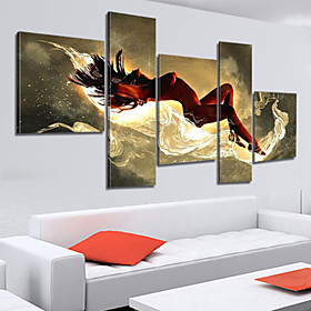 100% Hand-painted Sexy Woman Nude Oil Painting on Canvas Naked Girl Body 5pcs/set No Frame 3798870