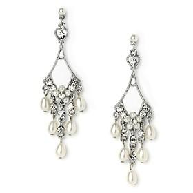 Vintage Women's Round Earrings Diamond Long Gold Earring For Wedding Bridal