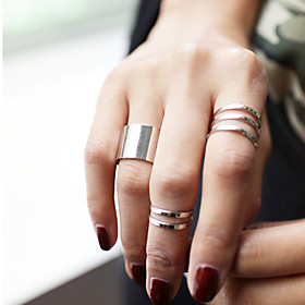 Women's Jewelry Set Knuckle Ring - Alloy Personalized, Fashion Adjustable Silver / Golden For Party Daily Casual
