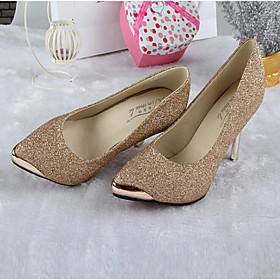 Women's Shoes Leather Kitten Heel Heels/Pointed Toe/Closed Toe Pumps/Heels Dress/Casual Black/Green/Red/Beige
