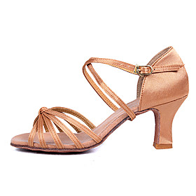 Customizable Women's Dance Shoes for Latin/Salsa with Customized Heels /2 Colors