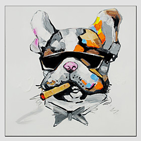 Oil Painting Cool Dog Style , Canvas Material with Stretched Frame Ready To Hang SIZE:7070CM.