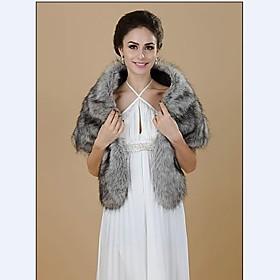 Women Faux Fur Shawls  Wraps (Lined)