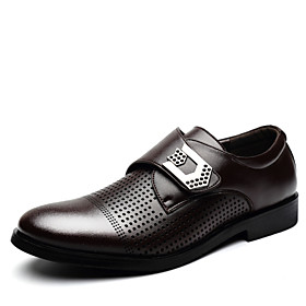 Men's Shoes Office  Career/Party  Evening/Casual Leather Oxfords Black/Brown