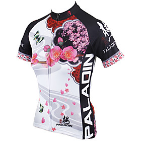 PALADIN Cycling Jersey Women's Short Sleeve BikeBreathable / Quick Dry / Ultraviolet Resistant / Compression / Lightweight Materials /