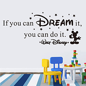 Wall Stickers Wall Decals Style if You Can Dream It English Words  Quotes PVC Wall Stickers
