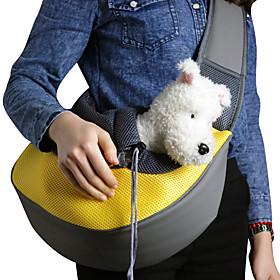 Cat Dog Carrier Travel Backpack Shoulder Bag Pet Baskets Solid Portable Breathable Yellow Rose Green Blue Pink For Pets