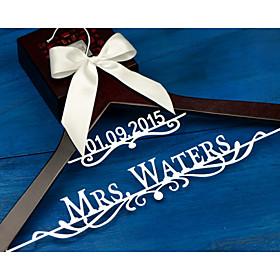 Gifts Bridesmaid Gift Deluxe Personalized Wedding Dress Hanger, Custom Bridal Bridesmaid Hanger EL008