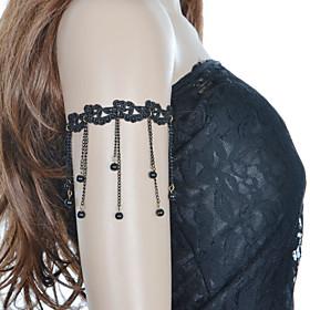 Vintage Ghthic Long Short Tassel Bead Bracelet