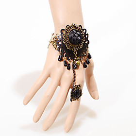 Vintage Herat Rose Drip Pearl Bracelet With Ring