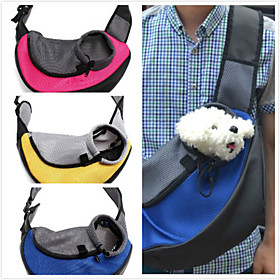 Cat Dog Carrier Travel Backpack Front Backpack Pet Baskets Solid Portable Breathable Yellow Red Green Blue For Pets