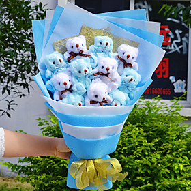 Import Teddy Bear Bouquet Valentine's Day Gift Wedding Bouquet 3944878