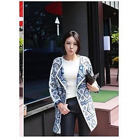 Manteau ( Mélanges de Coton ) Normal - Vintage/Décontracté/Soirée/Grandes Tailles - Epais à Manches Longues
