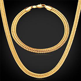 Schmuck Halsketten \/ Armband Schmuckset Hochzeit \/ Party \/ Alltag \/ Normal \/ Sport Aleacion \/ vergoldet Goldfarben \/ Rose \/ Silber