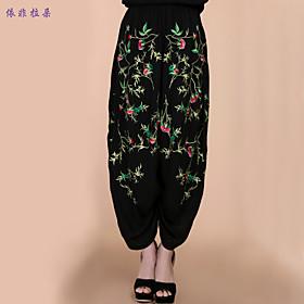 Pantalons pour Femmes  ( Coton/Lin ) Large  -  Fin