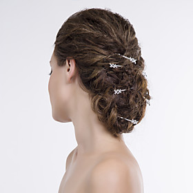 Women Alloy/Net Hair Pin With Rhinestone Wedding/Party Headpiece 3982879
