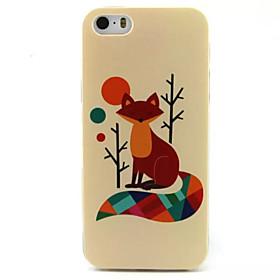 $Για Θήκη iPhone 5 Με σχέδια tok Πίσω Κάλυμμα tok Ζώο Μαλακή TPU iPhone SE/5s/5
