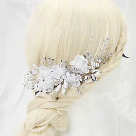 Women's / Flower Girl's Rhinestone / Alloy / Imitation Pearl Headpiece-Wedding / Special Occasion Hair Combs 1 Piece 3929641