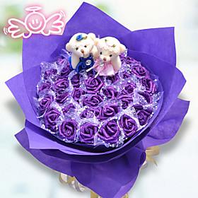 36 Similar Flowers Bouquet Valentine's Day Gift Cartoon Bear Bouquet 3943147