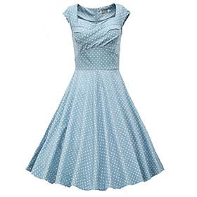 Women's Polka Dot Dresses , Vintage Sleeveless