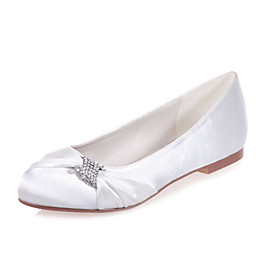 Women's Shoes Satin Flat Heel Round Toe Flats Wedding/Party  Evening Shoes More Colors available