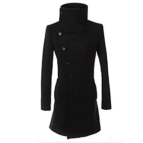 Image of Fashion Personality Slim Medium-long All-match Trend Large Lapel Trench Men Trench Coat