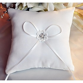 Ring Pillow Satin Asian Theme/Classic Theme/Fairytale Theme/Floral Theme/Butterfly Theme With Ribbons/Rhinestones/Petals