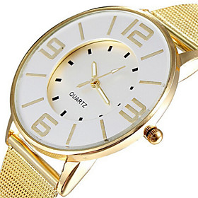Fashion Popular Steel Mesh Band Gold Watch Women Luxury Brand Dress Quartz W..