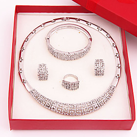 Women's Jewelry Set Rhinestone Luxury Fashion Wedding Party Special Occasion..