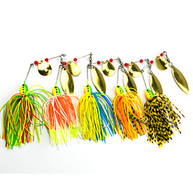5 pcs Hengjia Metal Spinner Baits 16.3g  Floating Fishing Lures 4166898