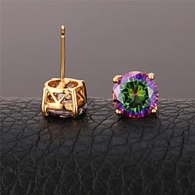 U7 Women's Mystic Rainbow Earrings for Women CZ Jewelry Platinum/Gold Plated..