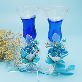 Double Glass Cups Candle Set 201697