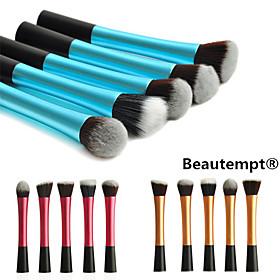 5pcs Makeup Brushes set Aluminium Handle Colorful Blush/Foundation/Powder Brush(Assorted Color) cosmetic brush kit face makeup tool