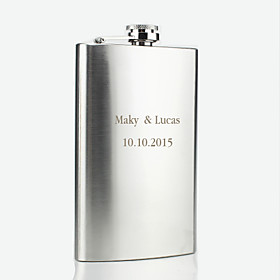 Groom Groomsman Parents Baby Kids Stainless Steel Hip Flasks Wedding Anniversary Birthday Congratulations Graduation Thank You Business