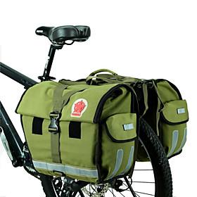 ROSWHEEL 45 L Bike Panniers Bag Waterproof, Adjustable, Large Capacity Bike Bag Canvas / Waterproof Material Bicycle Bag Cycle Bag Cycling / Bike / Waterproof