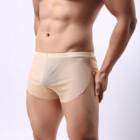 Men's Fabric Mens Underwear Transparent gauze Men's underwear perspective