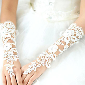 Elbow Length Fingerless Glove Lace Bridal Gloves Summer lace