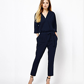 Women's Solid  Jumpsuits (cotton).