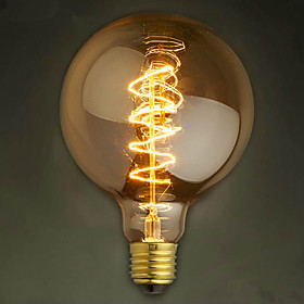 E27 40W G125 Wire Bar Bubble Dragon Edison Retro Decorative Lamp Filament