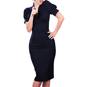 Women's Fashion Casual / Work V Neck Knee-length Sheath Dress