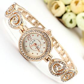 Women's Fashion Watch Quartz Alloy Band Sparkle Bohemian Charm Bangle Rose G..