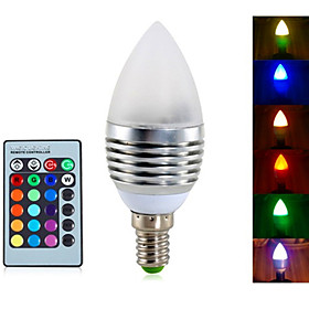 YWXLight 4W E14 LED Candle Lights 3 Integrate LED RGB Remote-Controlled Dimmable AC85-265V 4443256