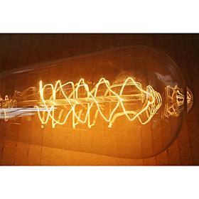 E27 60W ST64 Winding Edison Retro Decorative Light Bulb