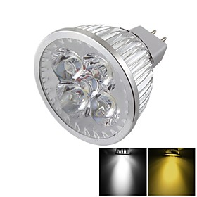 YouOKLight MR16 4W Dimmable 4-LED Spotlight Warm White/Cold White Light 3000/6000k 400lm (DC 12V) 4457002