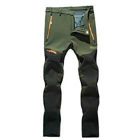 Men's Hiking Pants Waterproof Thermal / Warm Windproof Insulated Rain-Proof Wearable Breathable Back Pocket Pants / Trousers for Camping 4391701