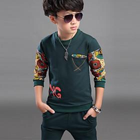 Ensemble de Vêtements Boy Imprimé Printemps / Automne Coton