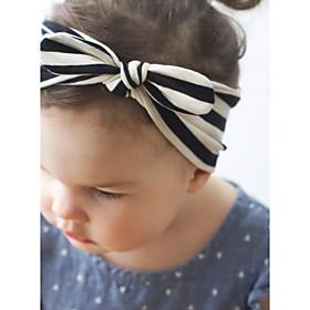 Kid's Cute Stripe Rabbit Ears Elastic Headband