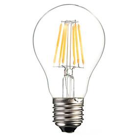 A60 6W E27 600LM 360 Degree Warm/Cool White Color Edison Filament Light LED Filament Lamp (AC85-265V)