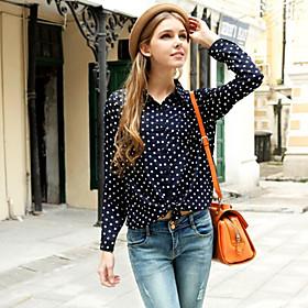 Women's Polka Dot  Shirt(chiffon)